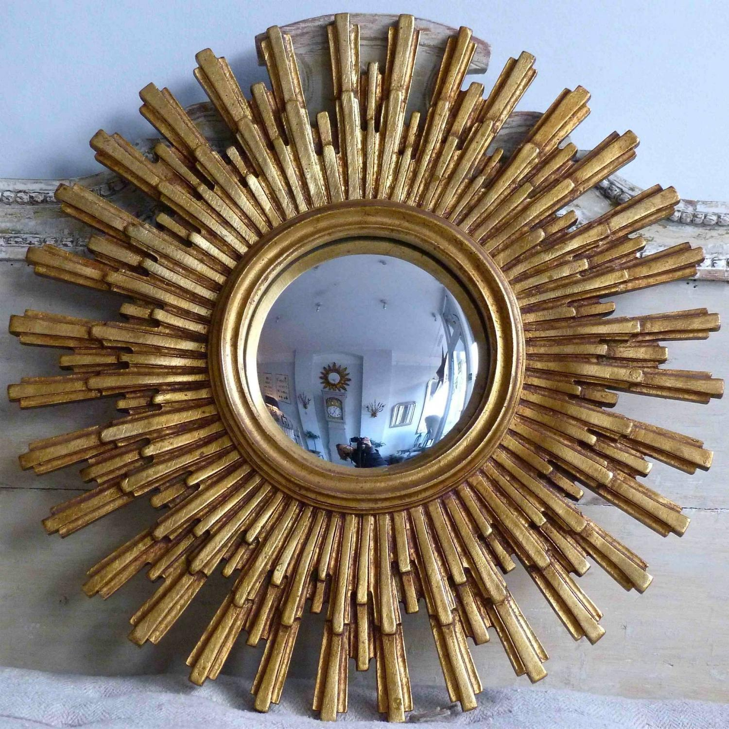 VINTAGE 20TH CENTURY SUNBURST MIRROR
