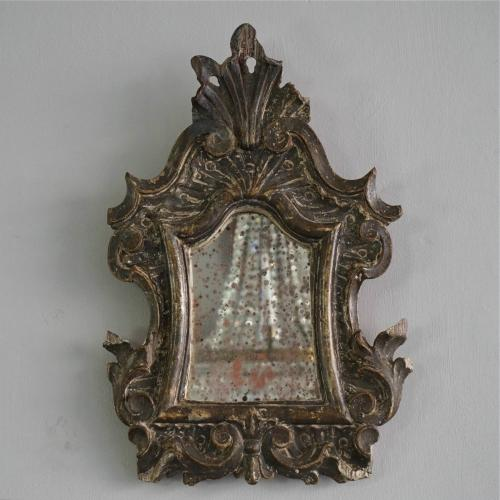 CHARMING 1750'S HAND CARVED ITALIAN BAROQUE MIRROR