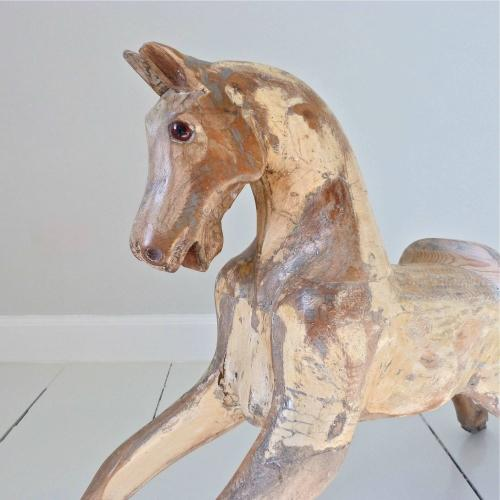 19TH CENTURY HAND CARVED ITALIAN HORSE