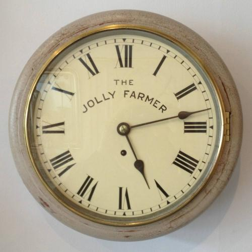 EARLY 20TH CENTURY PAINTED ENGLISH DIAL CLOCK