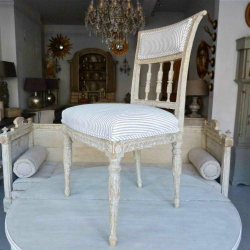 6 IMPORTANT GUSTAVIAN PERIOD DINING CHAIRS