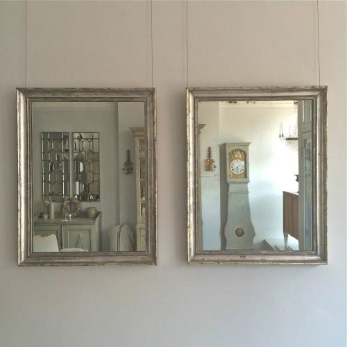 PAIR OF 19TH CENTURY SILVER GILT MIRRORS