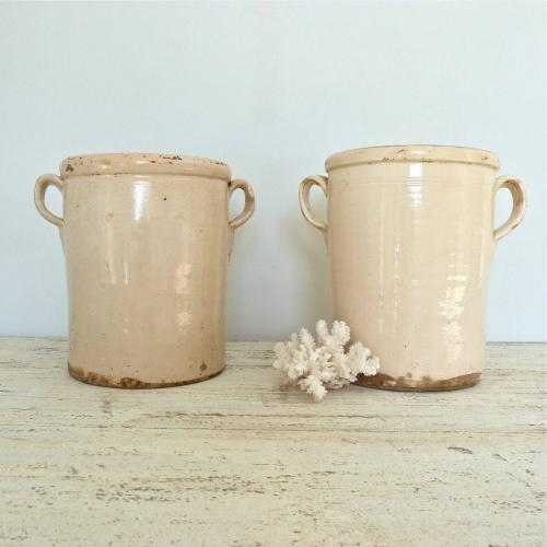 PAIR OF GRAND SCALE 19TH CENTURY ITALIAN CONFIT POTS