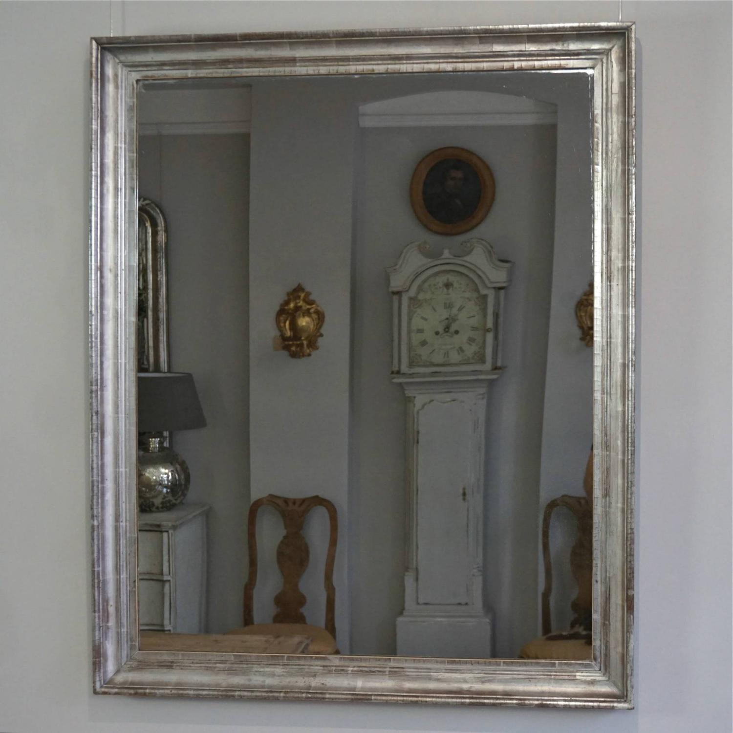 BEAUTIFUL 19TH CENTURY SILVER GILT FRAMED MIRROR