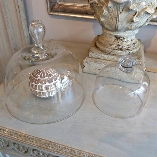 ANTIQUE GLASS CLOCHES