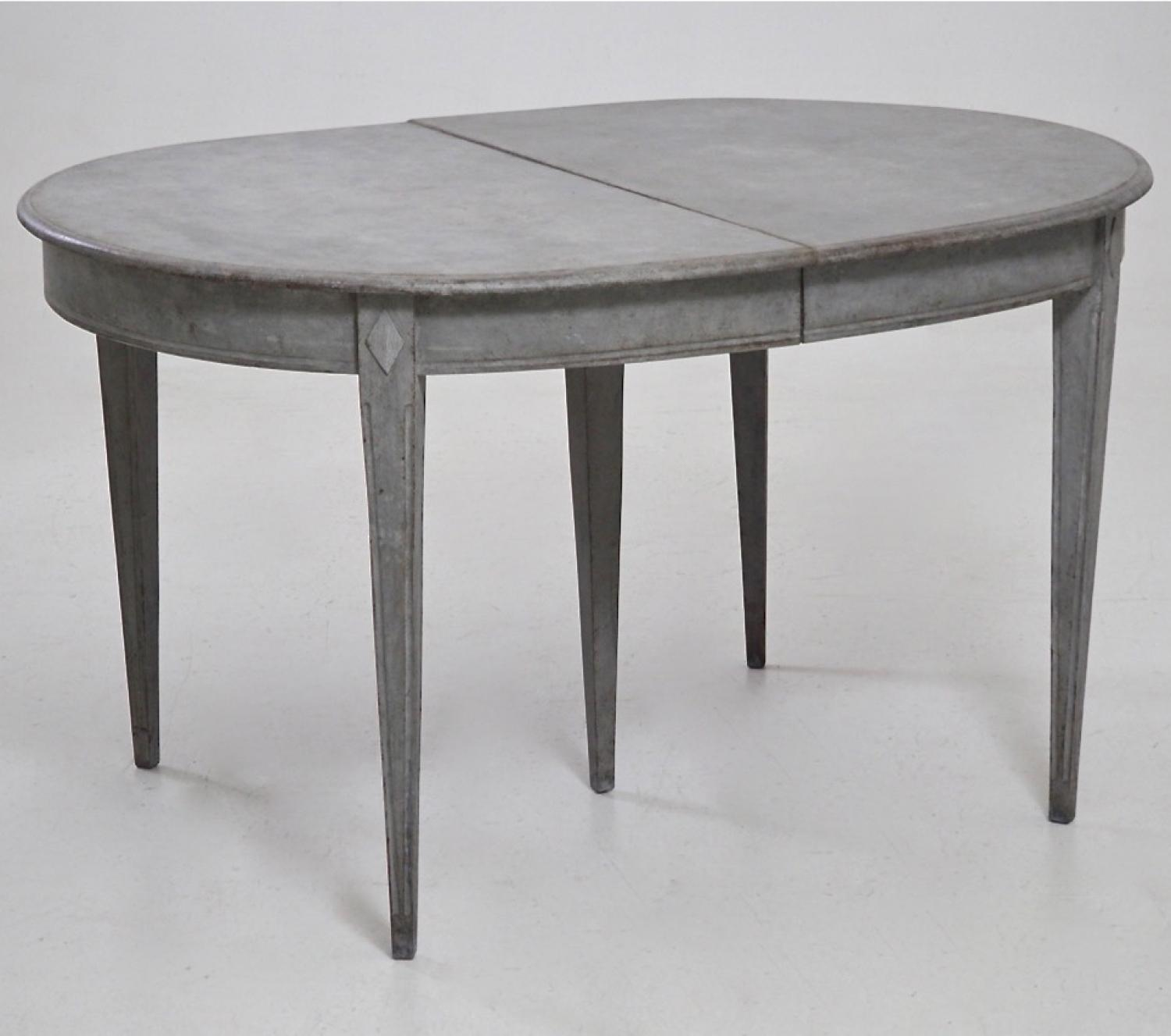 19th century swedish gustavian style table in furniture for Table th width