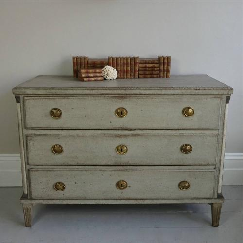 LARGE AND RICHLY CARVED DANISH GUSTAVIAN CHEST