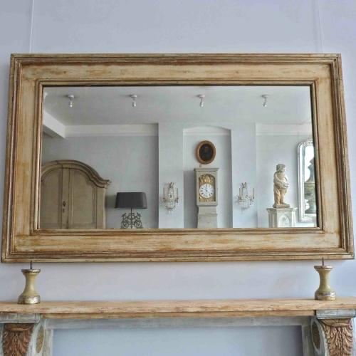 19TH CENTURY BELGIAN MIRROR IN ORIGINAL PAINT