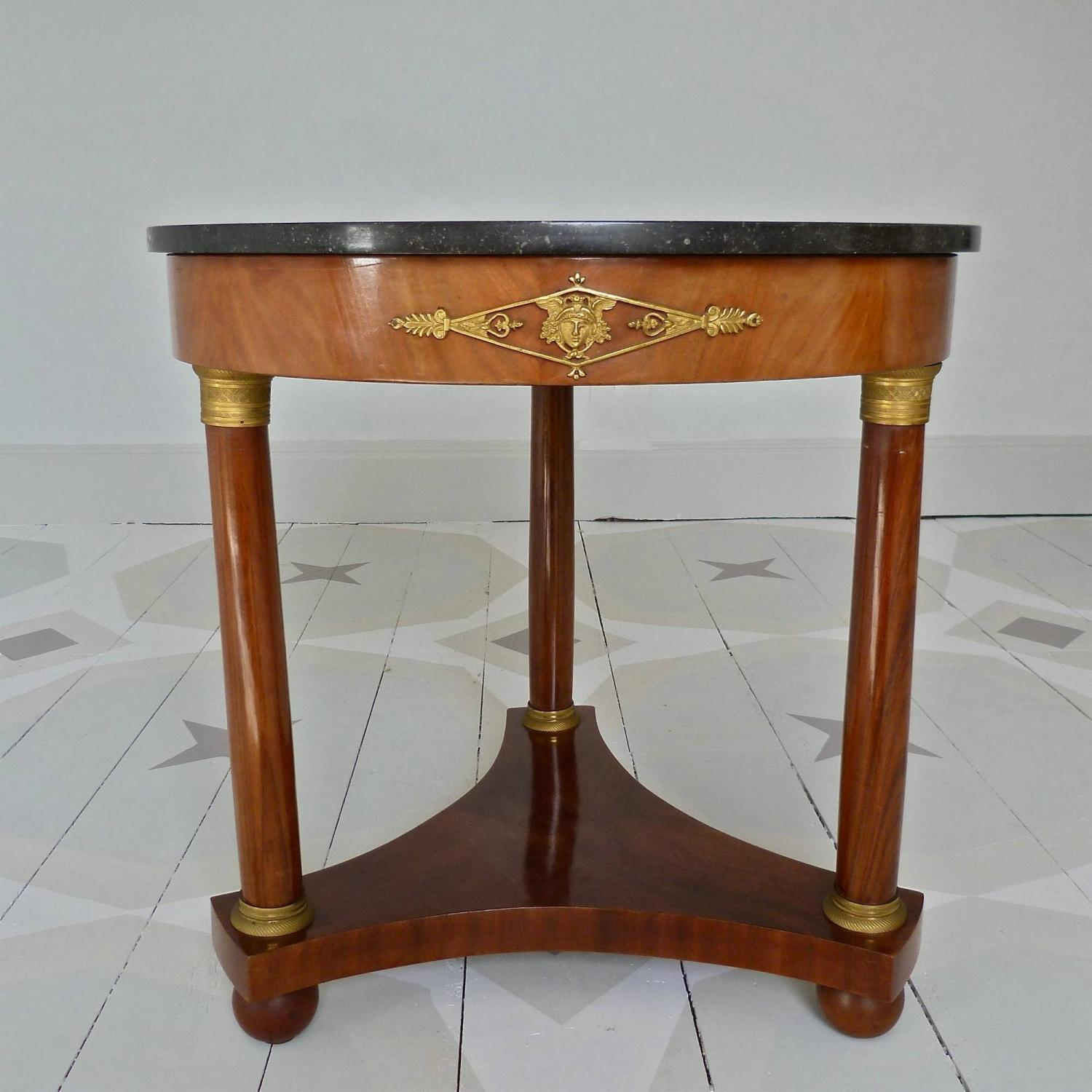19TH CENTURY EMPIRE MAHOGANY GUERIDON