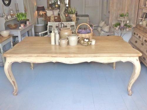 LIMED OAK FRENCH DINING TABLE