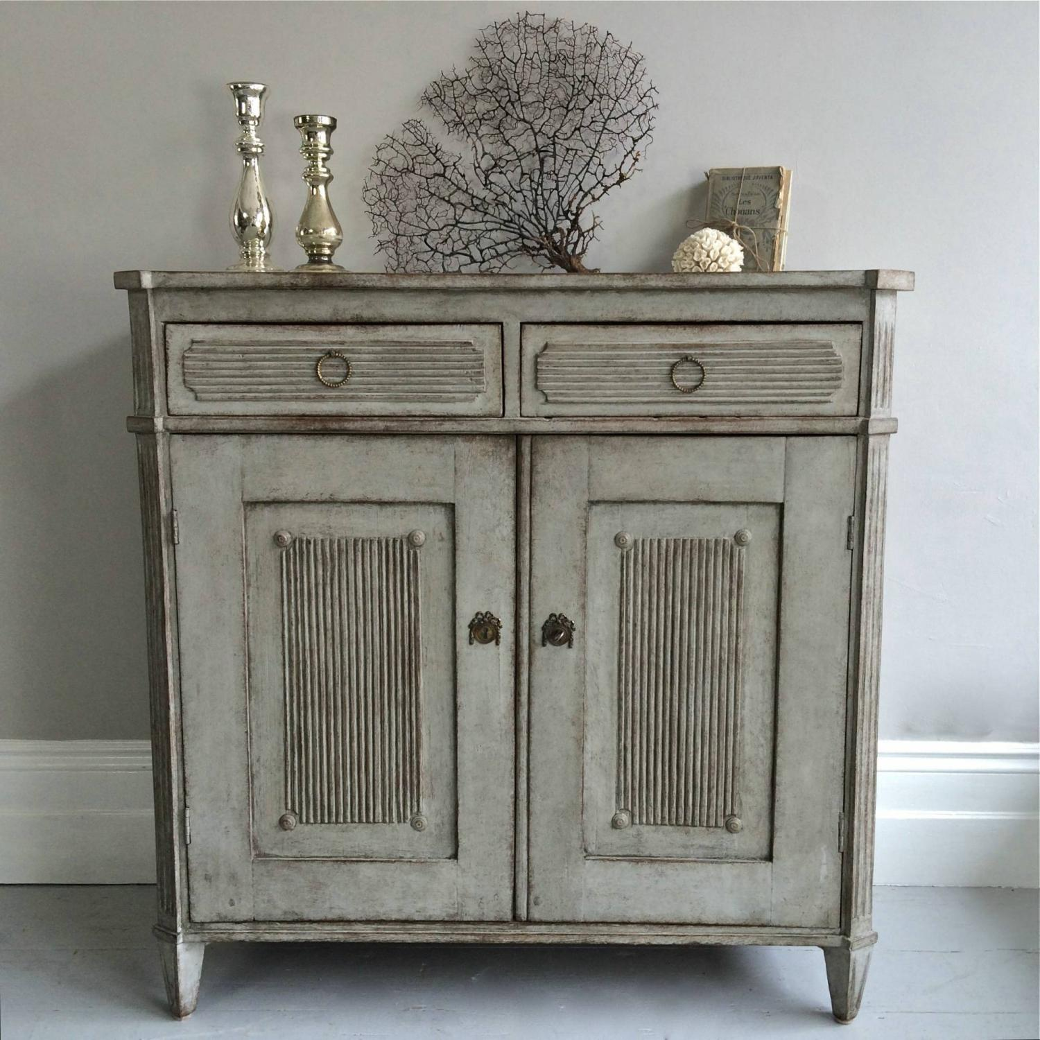 RICHLY CARVED SWEDISH GUSTAVIAN SIDEBOARD