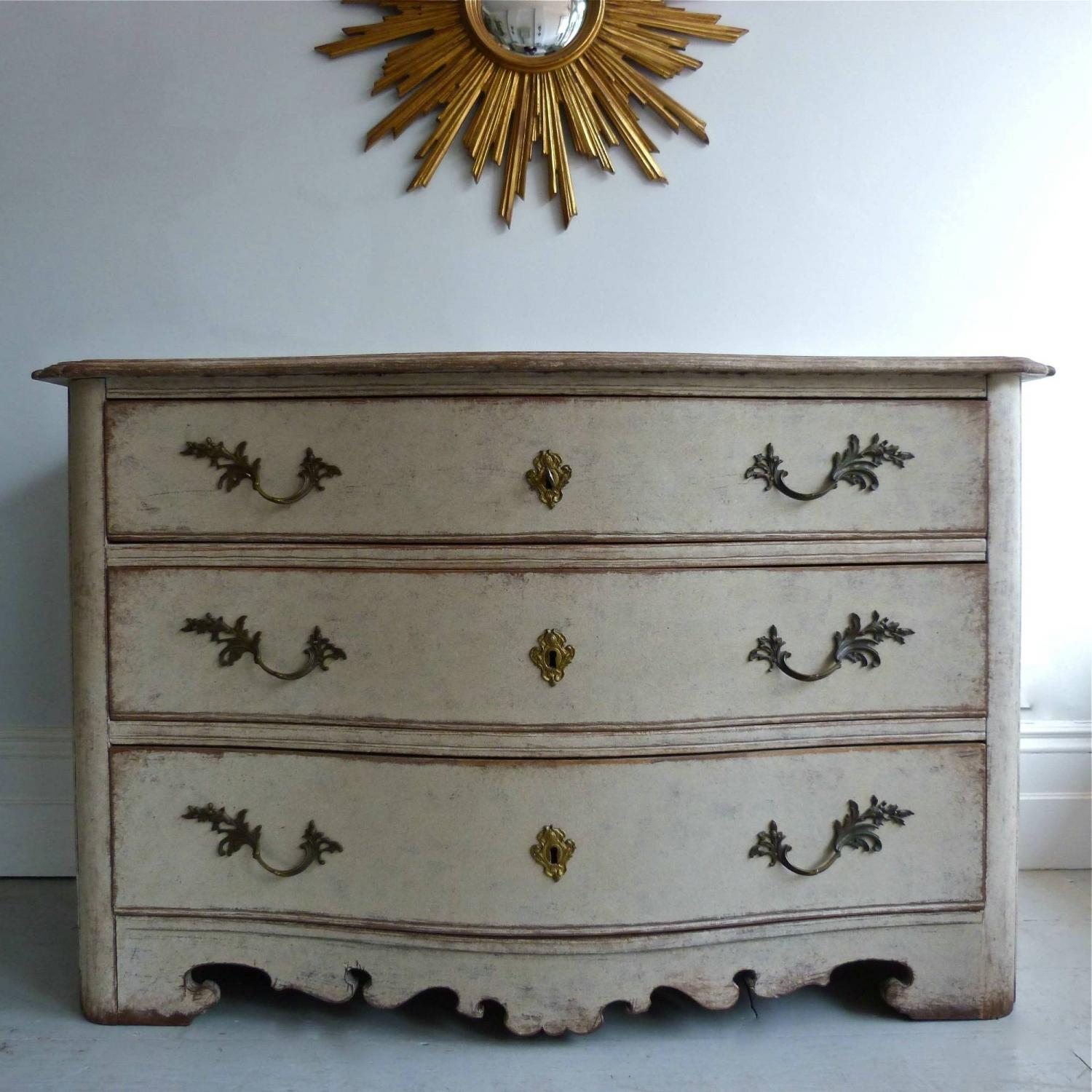 RARE 18TH CENTURY SWEDISH ROCOCO PERIOD CHEST