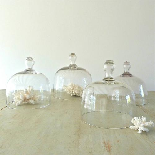 FINE COLLECTION OF FOUR LARGE 19TH CENTURY CLOCHES