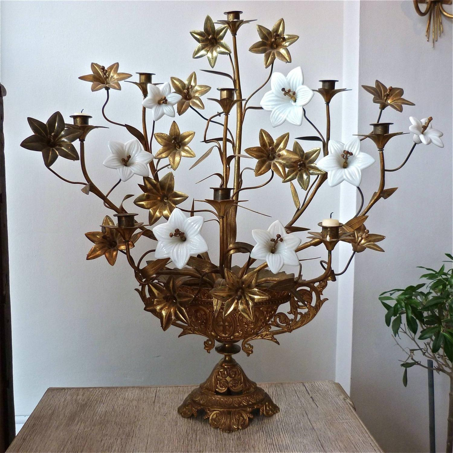 19TH CENTURY FRENCH CHURCH CANDELABRA