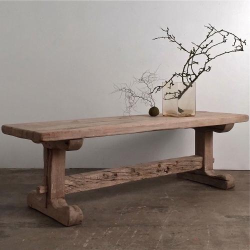 STUNNING 18TH CENTURY FRENCH SOLID OAK REFECTORY TABLE
