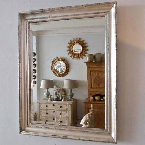 19TH CENTURY FRENCH SILVER FRAMED MIRROR