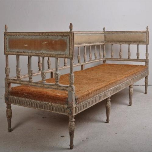 SWEDISH GUSTAVIAN SOFA IN ORIGINAL PAINT