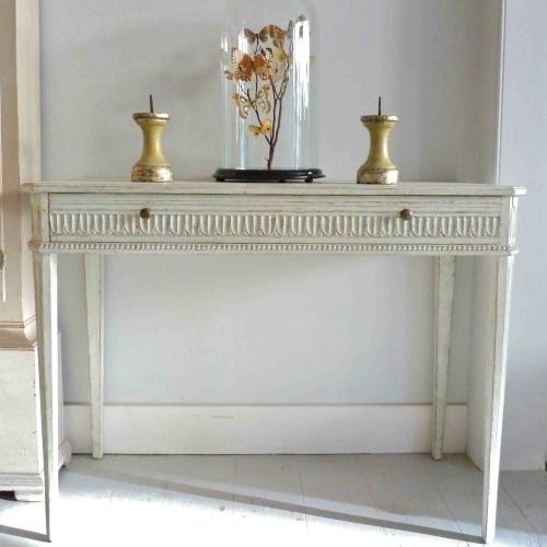 RICHLY CARVED SWEDISH GUSTAVIAN CONSOLE TABLE