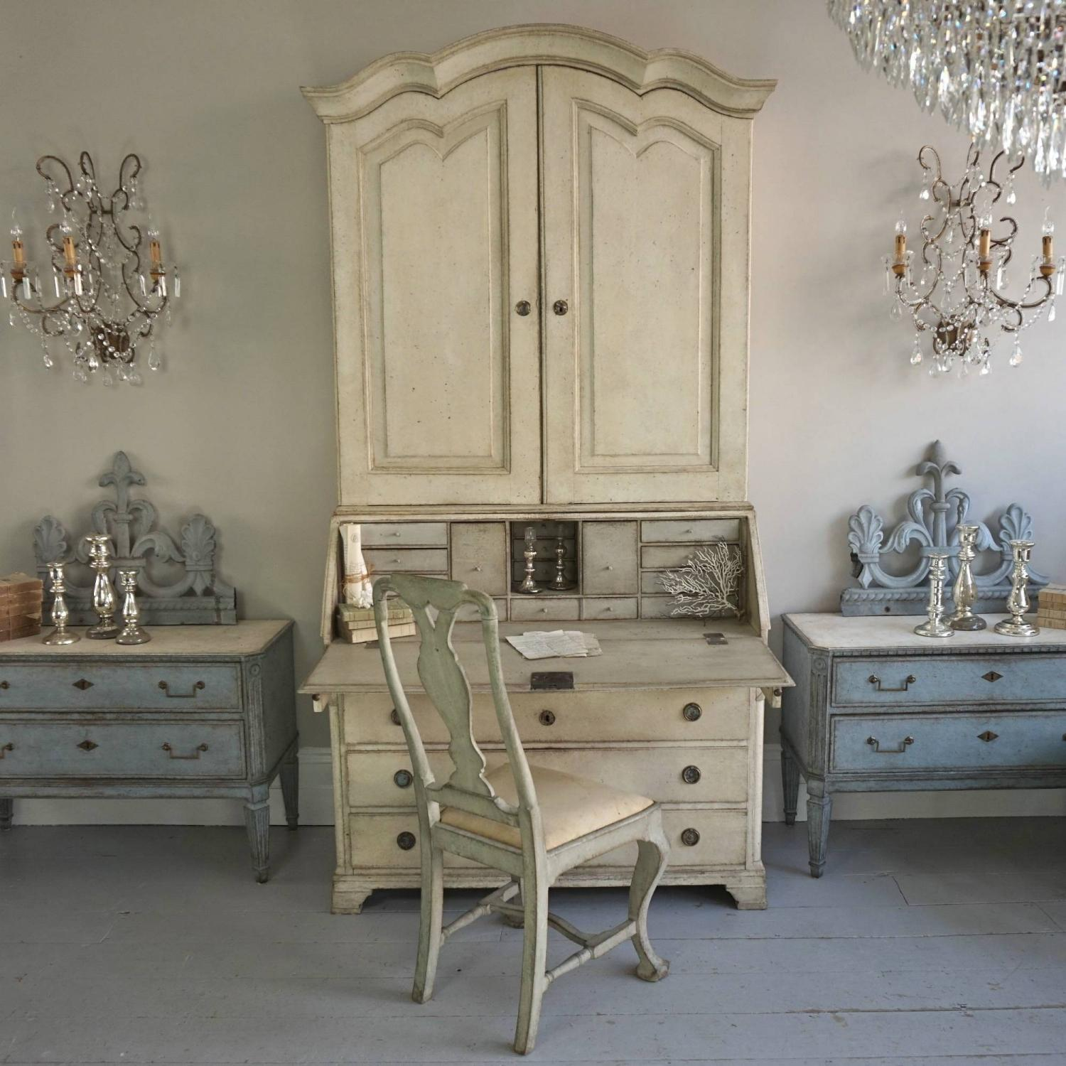 GRAND SCALE DANISH GUSTAVIAN SECRETAIRE