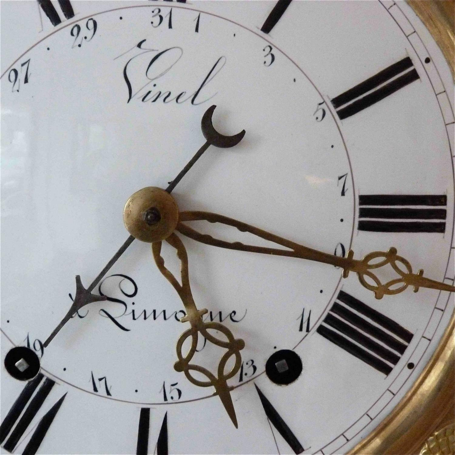 EARLY 19TH CENTURY COMTOISE LONG CASE CLOCK
