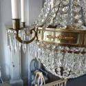 LARGE SWEDISH EMPIRE STYLE CHANDELIER IN ANTIQUE BRASS - picture 5