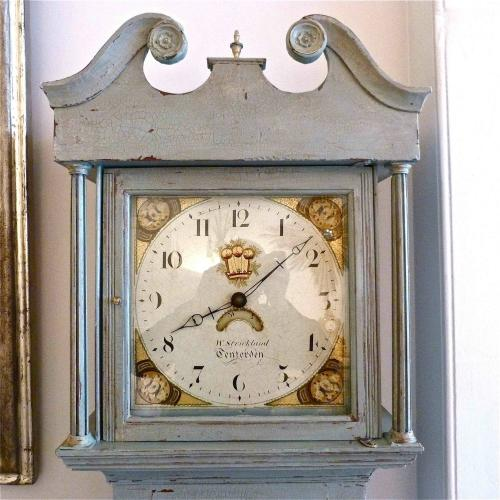 STUNNING CIRCA 1820 ENGLISH LONGCASE CLOCK