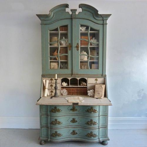 EXTRAORDINARY GRAND SCALE DANISH ROCOCO SECRETAIRE