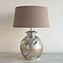 SMALL SILVERED MERCURY STYLE TABLE LAMPS - picture 1