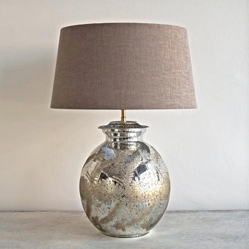 SMALL SILVERED MERCURY STYLE TABLE LAMPS