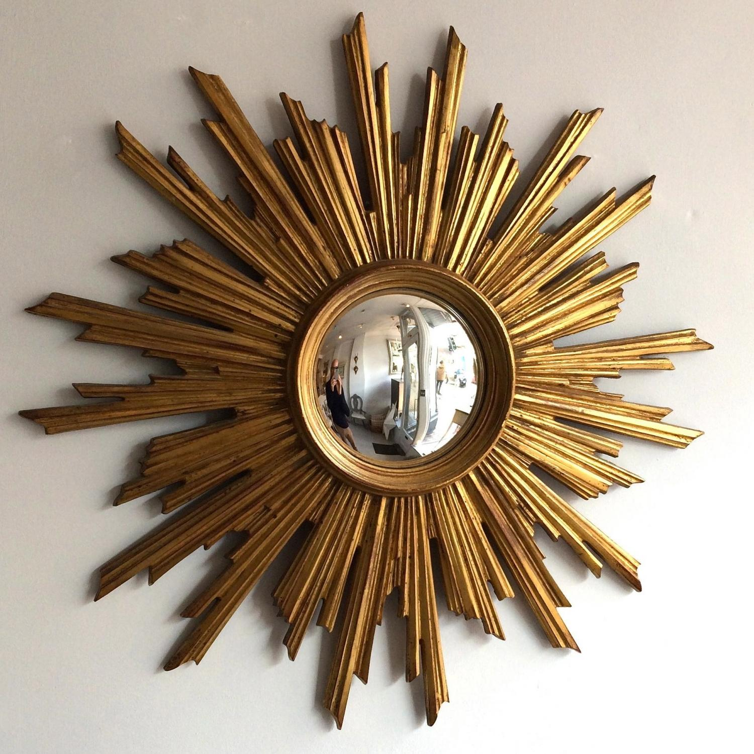 MAGNIFICENT VINTAGE RESIN SUNBURST MIRROR