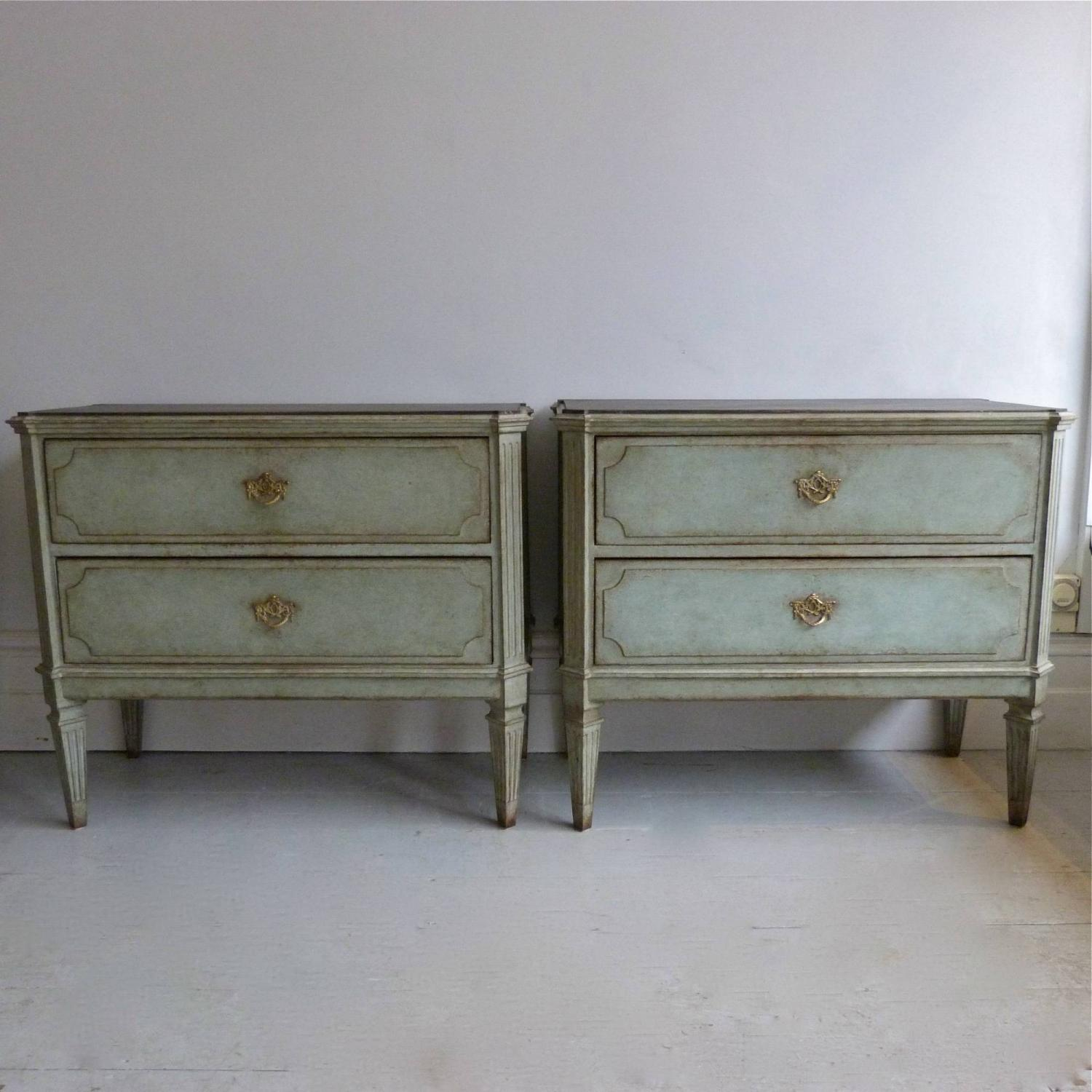 DECORATIVE PAIR OF SWEDISH GUSTAVIAN STYLE CHESTS