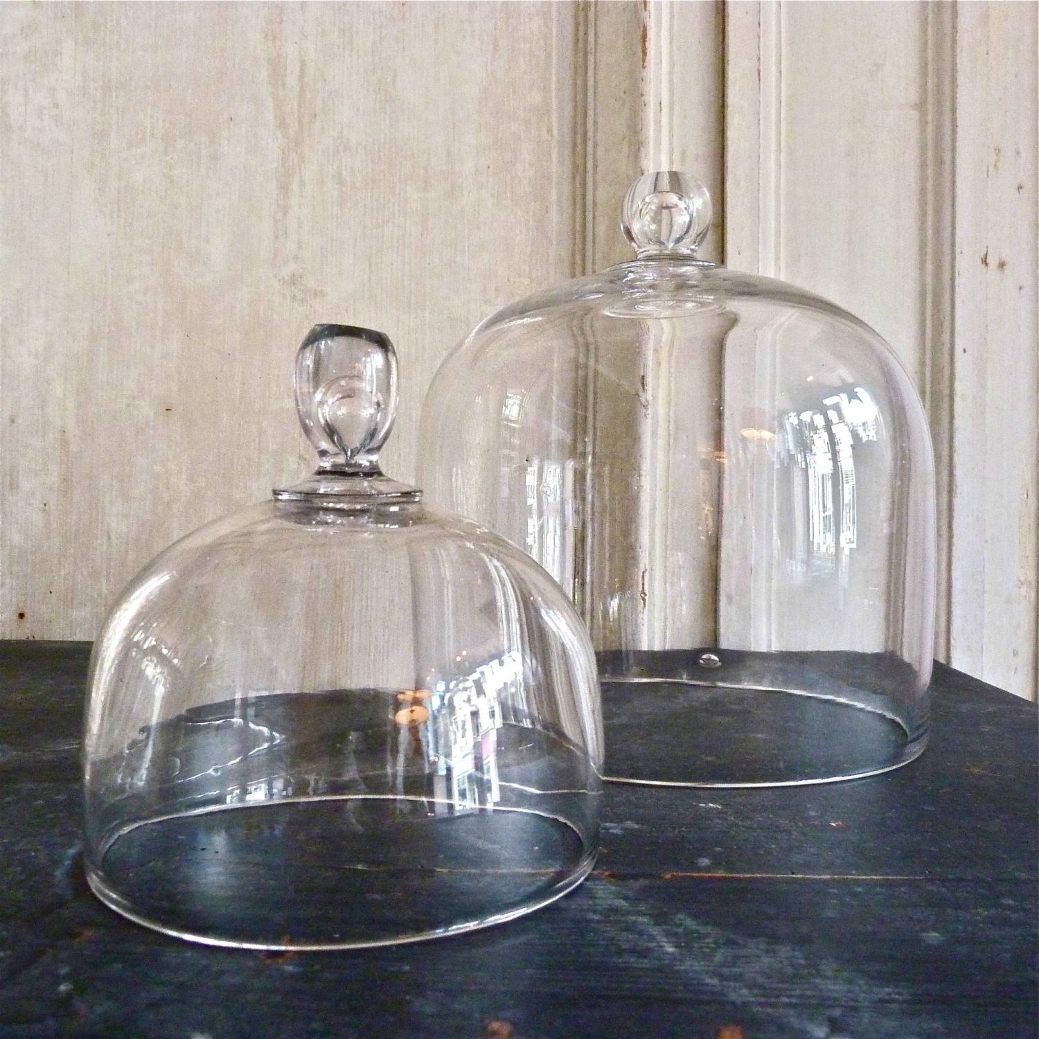 ANTIQUE VICTORIAN GLASS CLOCHES