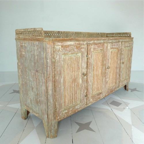RARE PERIOD GUSTAVIAN SIDEBOARD IN ORIGINAL PAINT