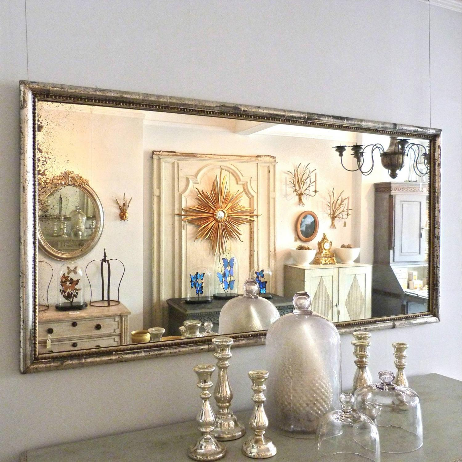 19TH CENTURY FRENCH SILVER BISTRO MIRROR