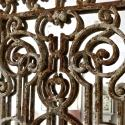 PAIR OF FRENCH 19TH CENTURY DECORATIVE IRON GRILL MIRRORS - picture 4