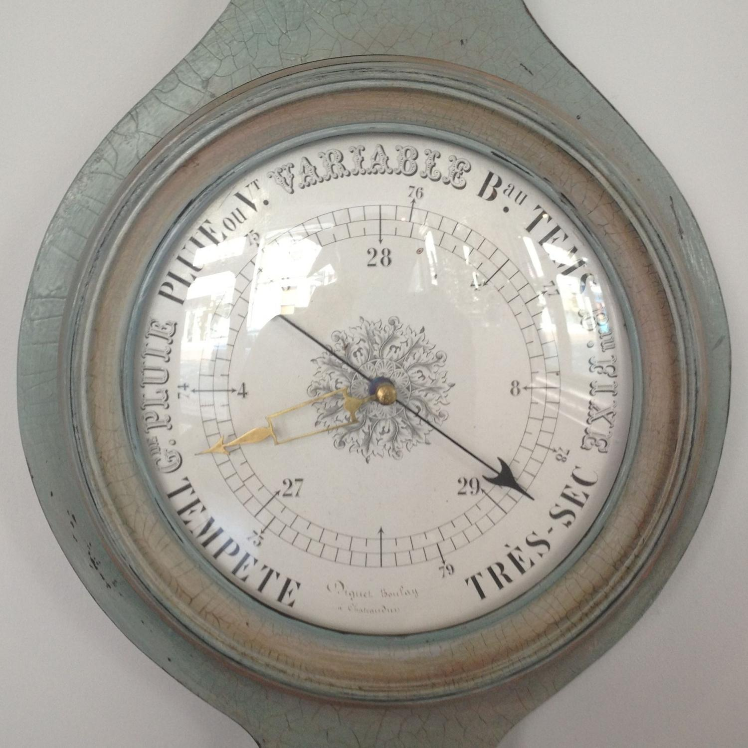 19TH CENTURY FRENCH MERCURY BAROMETER