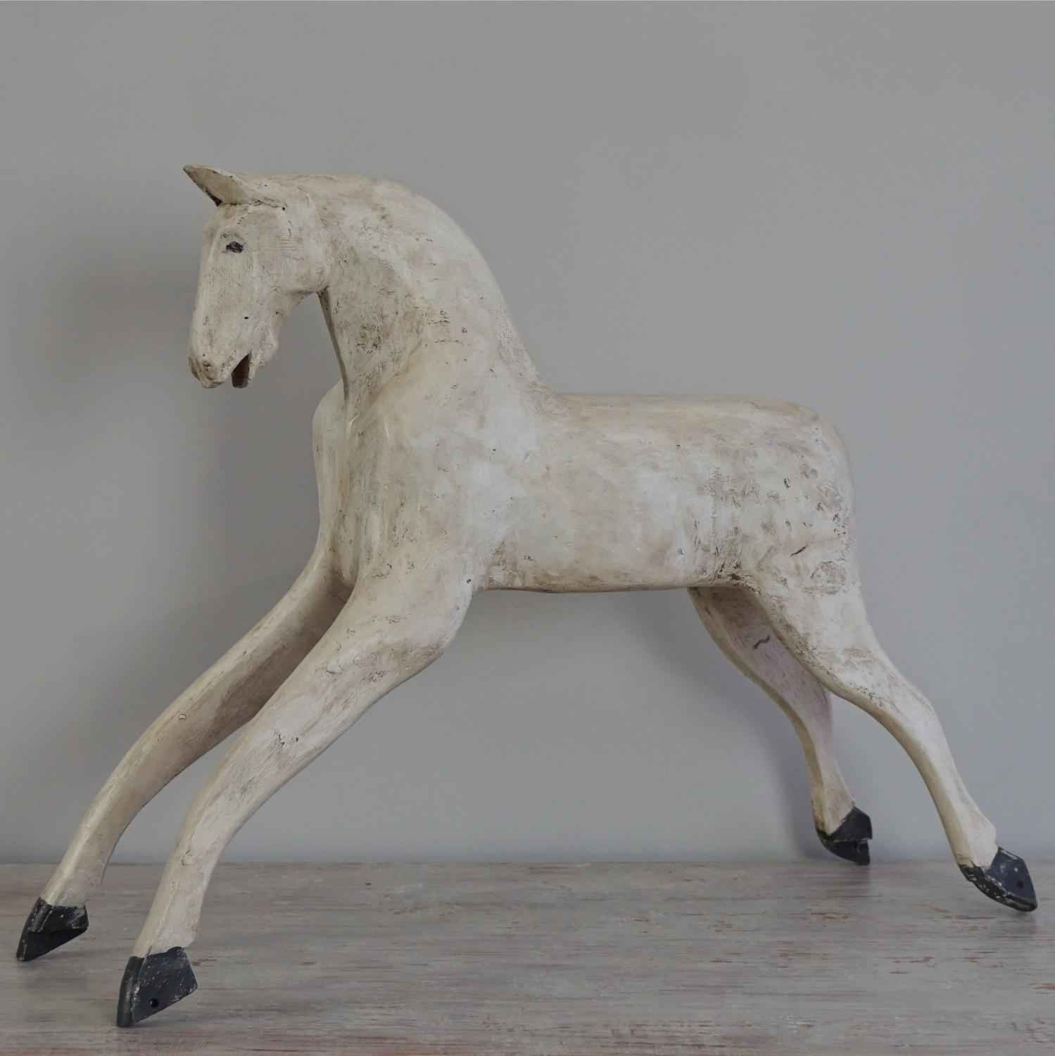 19TH CENTURY SWEDISH HORSE IN ORIGINAL PAINT