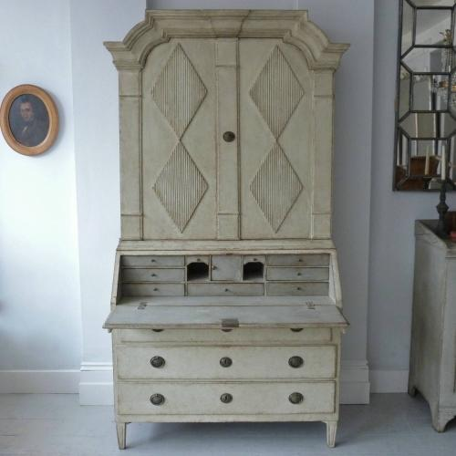 FINE LATE 18TH CENTURY SWEDISH GUSTAVIAN SECRETAIRE
