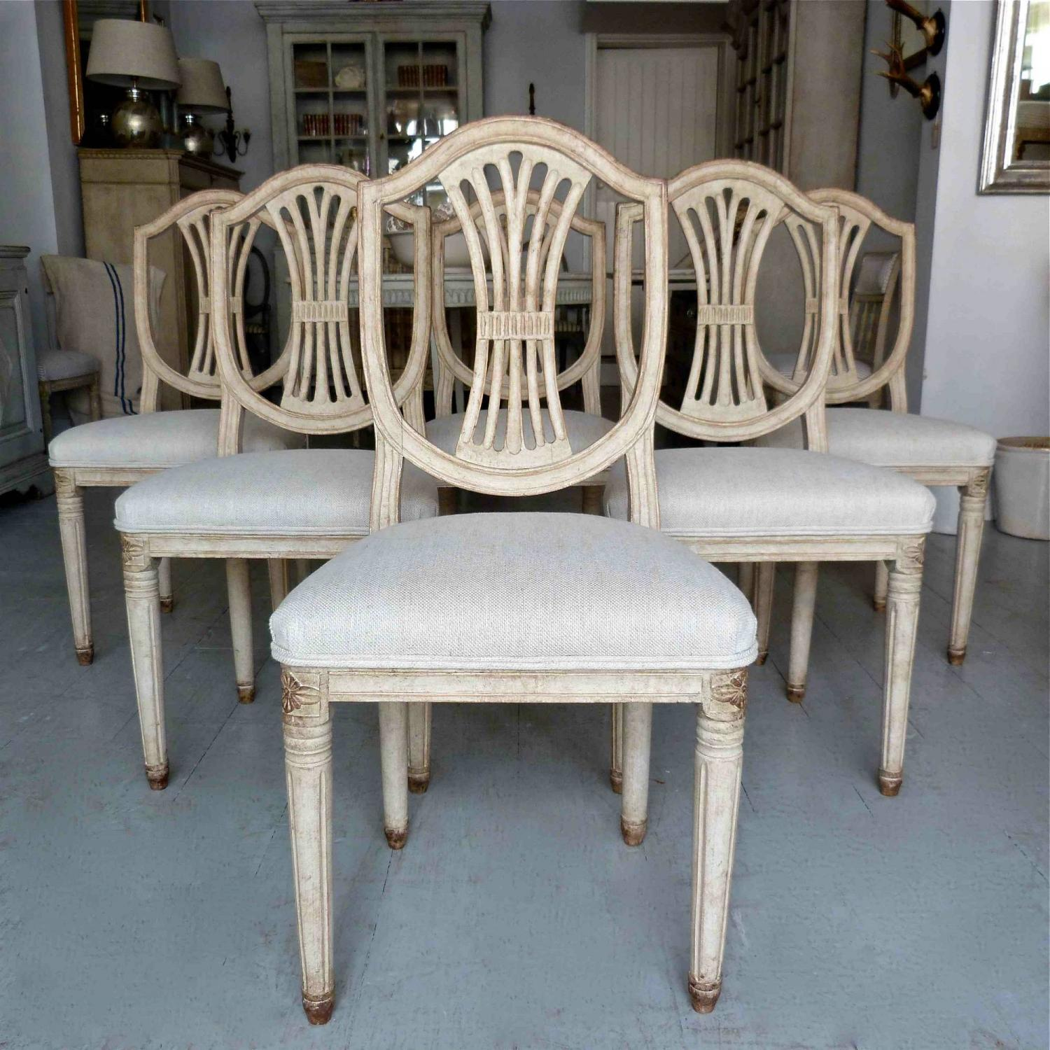 six 19th century swedish gustavian style chairs picture 1 - Gustavian Style Furniture