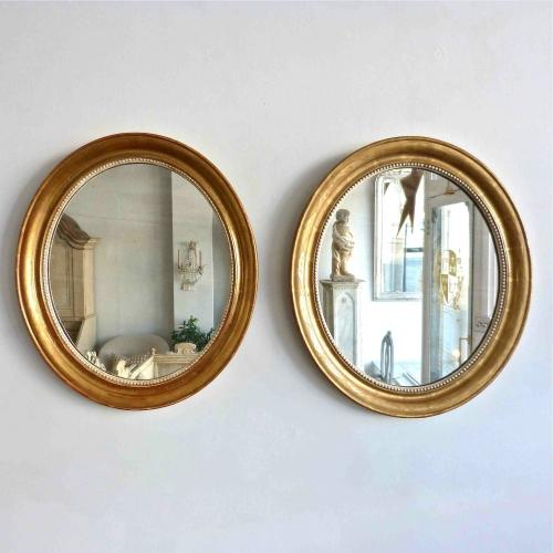 HARLEQUIN PAIR OF LOUIS PHILIPPE MIRRORS
