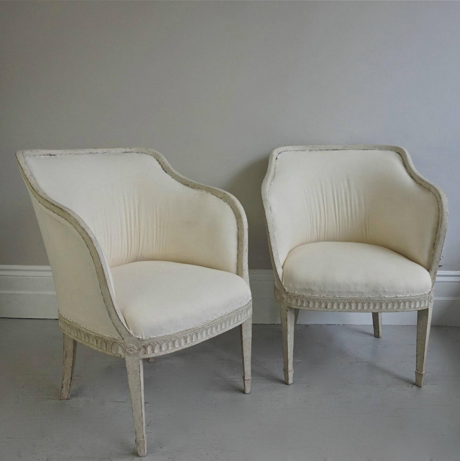 PAIR OF RICHLY CARVED SWEDISH GUSTAVIAN STYLE
