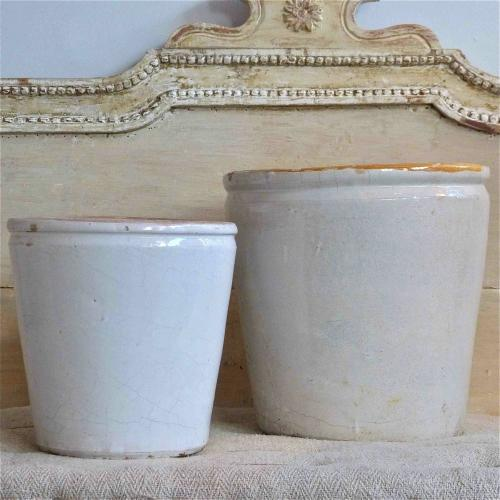 TWO 19TH CENTURY ITALIAN GLAZED POTS