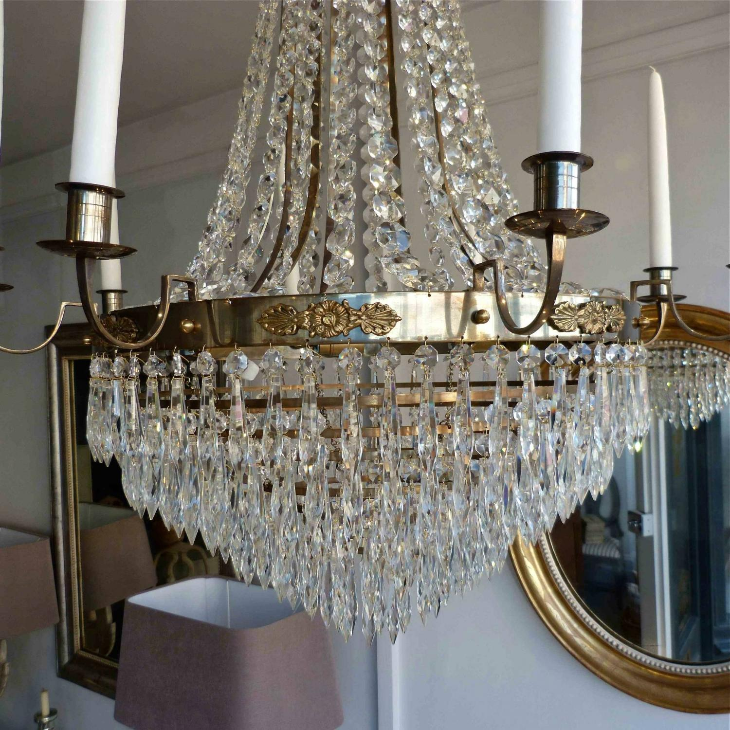 Magnificent pair of swedish gustavian style chandeliers in lighting magnificent pair of swedish gustavian style chandeliers picture 2 arubaitofo Image collections