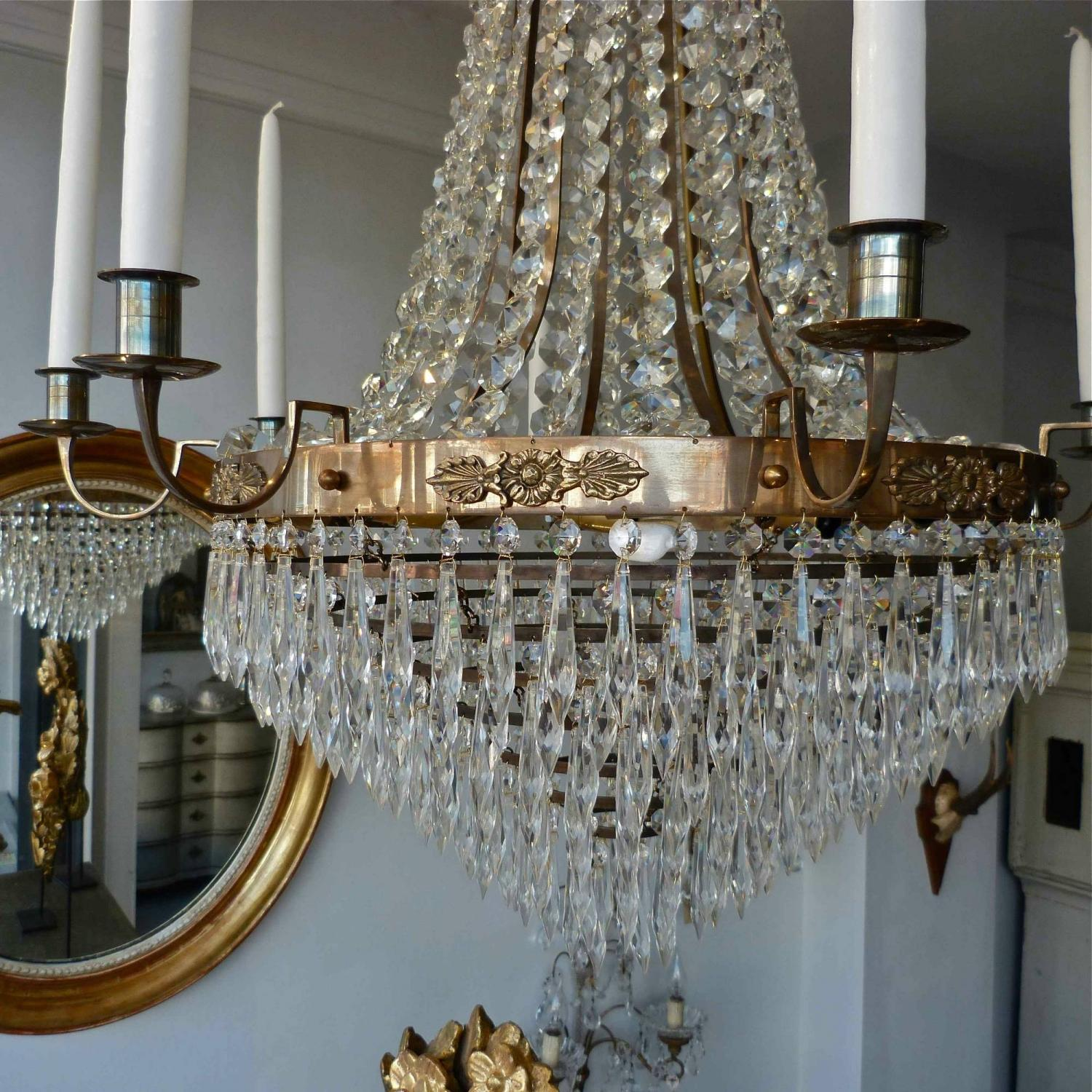 Magnificent pair of swedish gustavian style chandeliers in lighting magnificent pair of swedish gustavian style chandeliers picture 3 arubaitofo Image collections