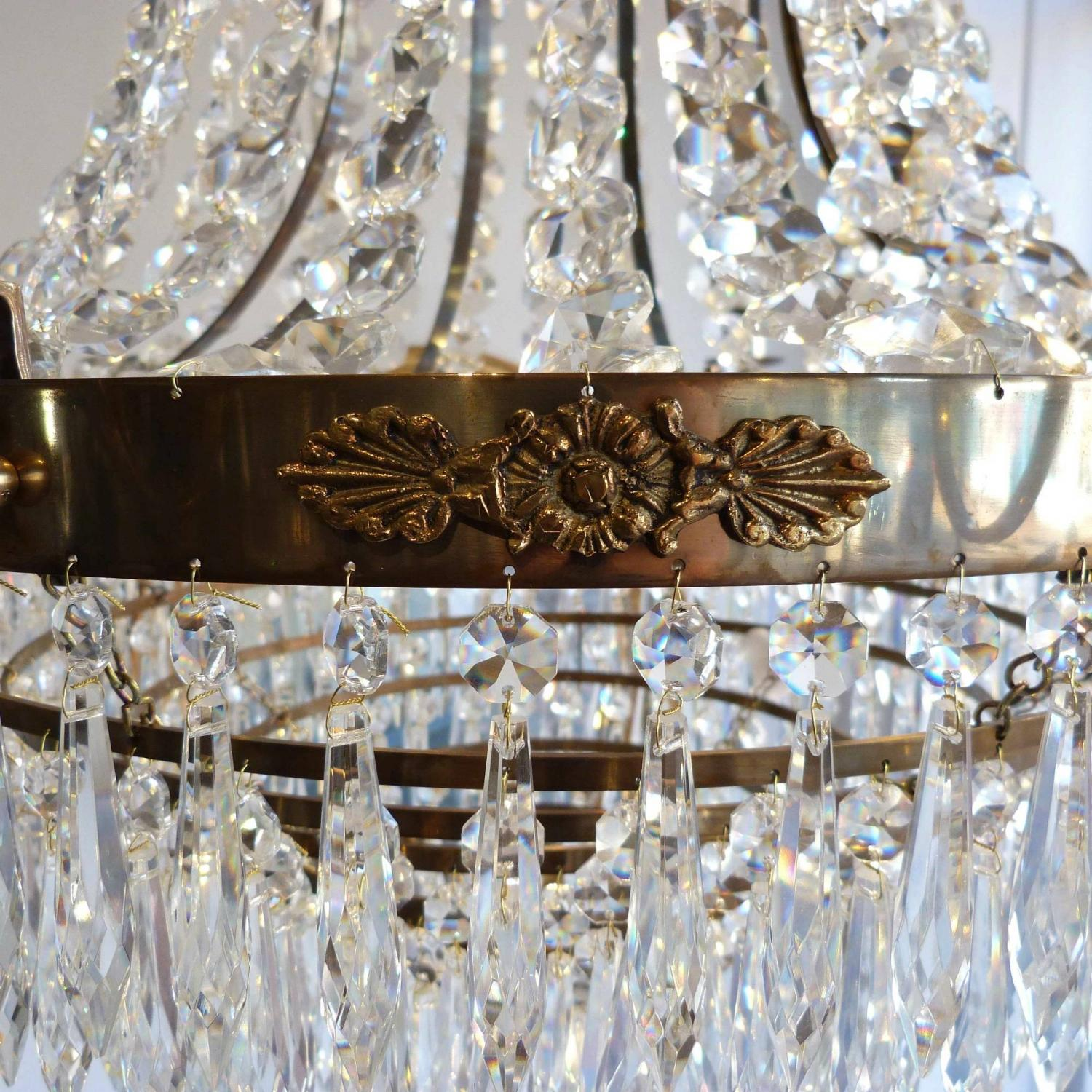 Magnificent pair of swedish gustavian style chandeliers in lighting magnificent pair of swedish gustavian style chandeliers picture 4 arubaitofo Image collections