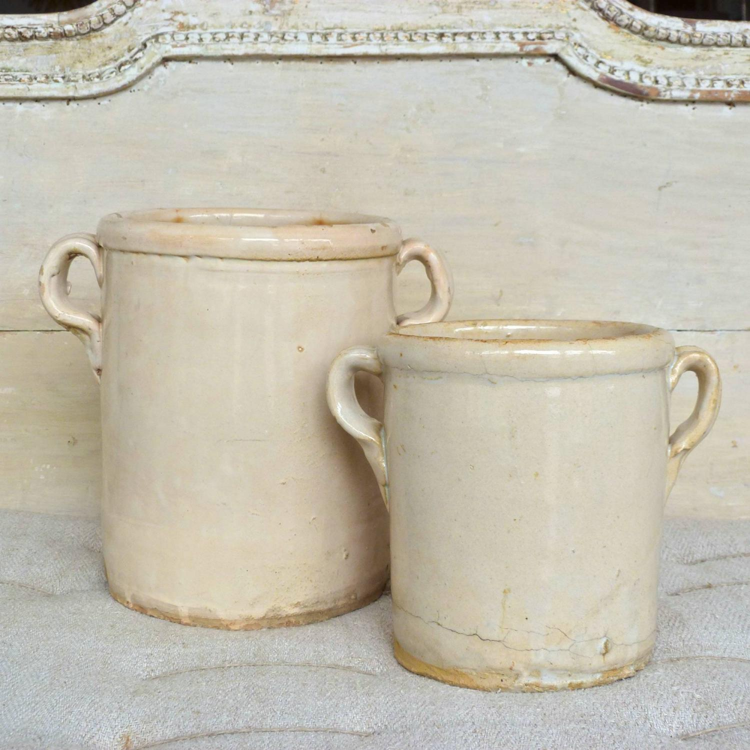 PAIR OF 19TH CENTURY ITALIAN CONFIT POTS