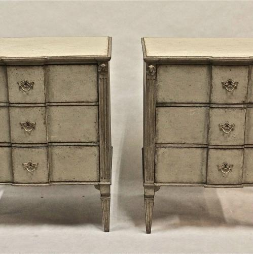 PAIR OF 19TH CENTURY SWEDISH GUSTAVIAN STYLE CHESTS