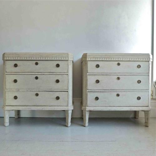 PAIR OF SWEDISH PERIOD GUSTAVIAN CHESTS