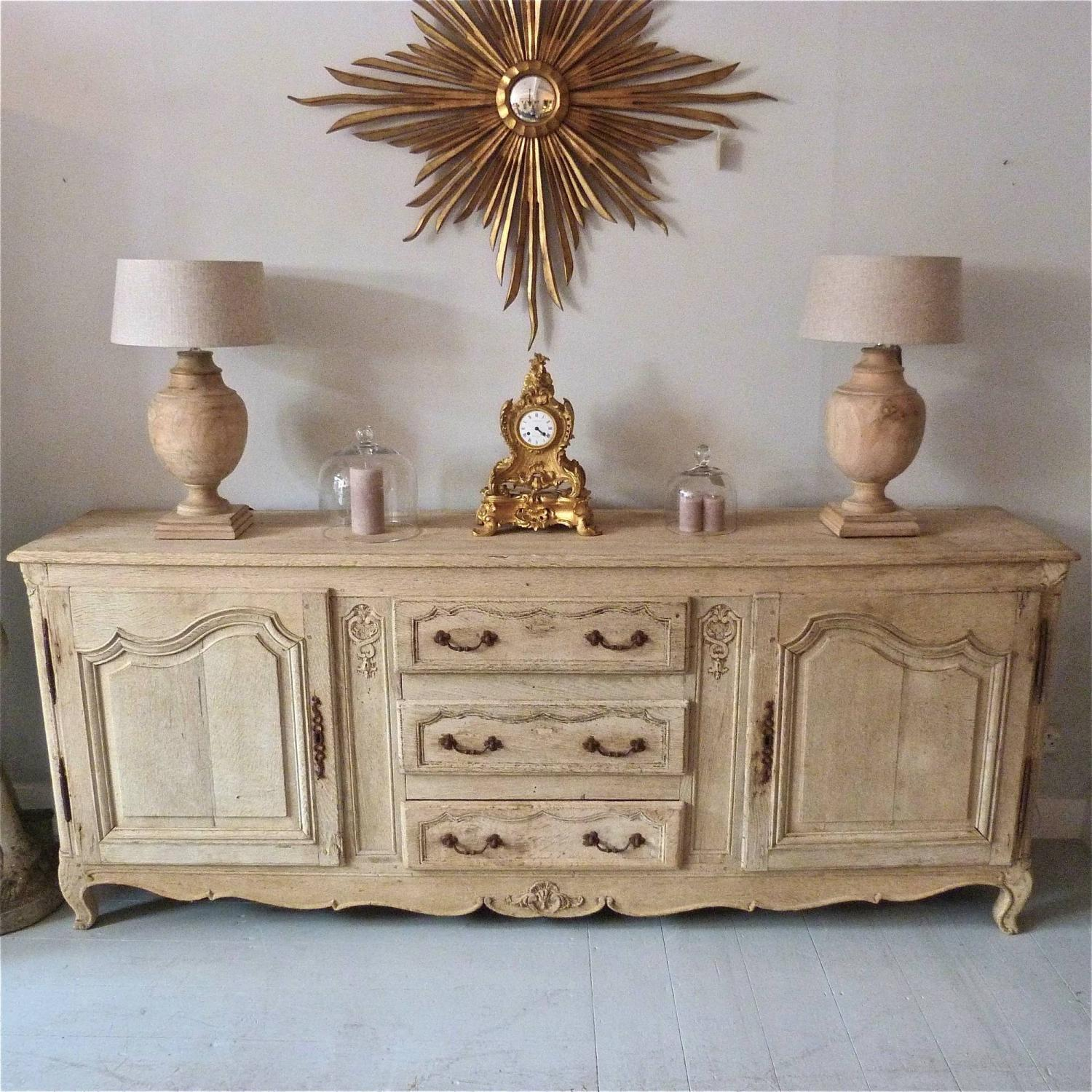18TH CENTURY FRENCH BLEACHED OAK ENFILADE