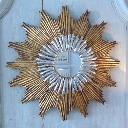 MID-CENTURY SPANISH SUNBURST MIRROR